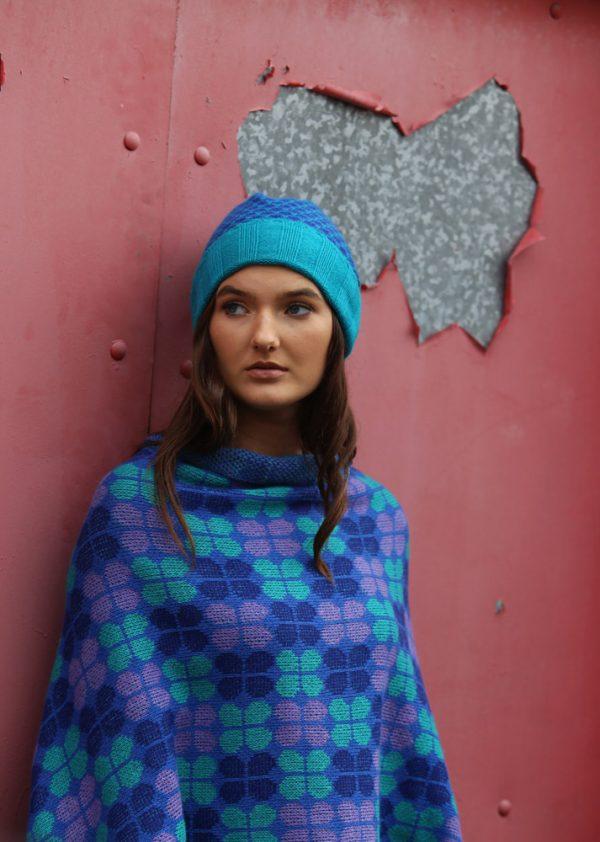 Retro Petal Draped Jumper 5 Linda Wilson Irish Knitwear Designer Limerick