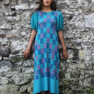 Retro Petal Dress 1 Linda Wilson Irish Knitwear Designer Limerick