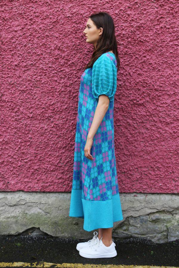 Retro Petal Dress 3 Linda Wilson Irish Knitwear Designer Limerick