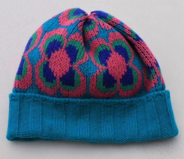 Ribbed Daisy Hat HAT2-1 Linda Wilson Childrens Irish Knitwear Designer