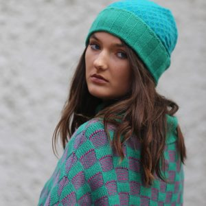 Ribbed Moss Hat 1 Linda Wilson Irish Knitwear Designer Limerick