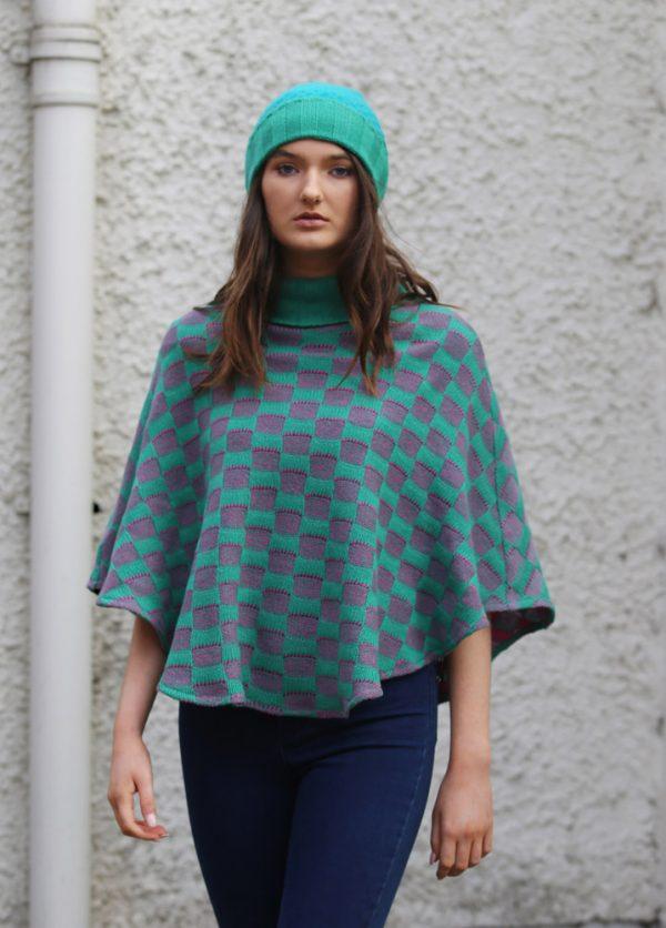 Ribbed Moss Hat 2 Linda Wilson Irish Knitwear Designer Limerick