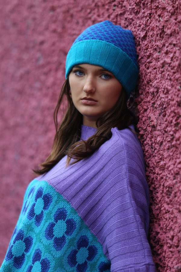 Ribbed Moss Hat 3 Linda Wilson Irish Knitwear Designer Limerick