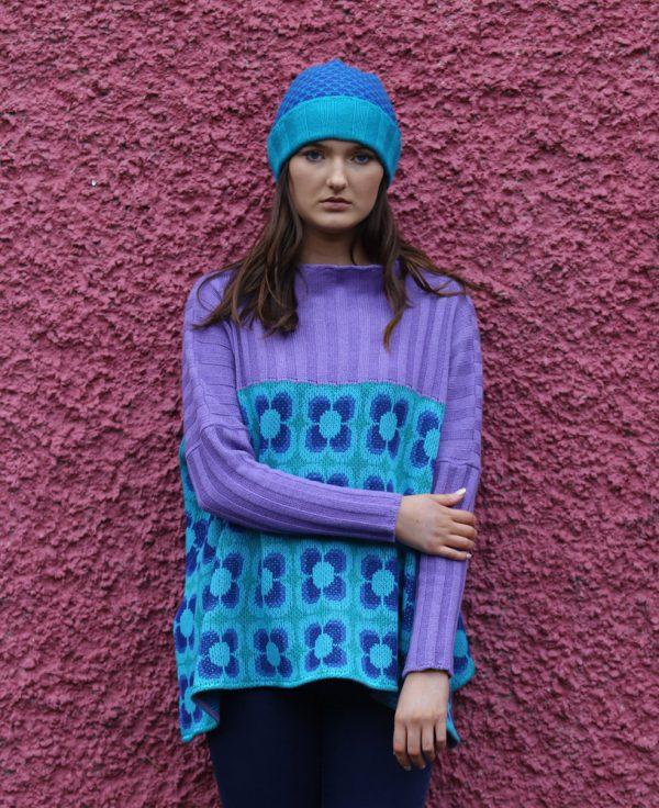 Ribbed Moss Hat 4 Linda Wilson Irish Knitwear Designer Limerick