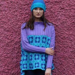 Ribbed Retro Daisy Jumper 2 Linda Wilson Irish Knitwear Designer Limerick
