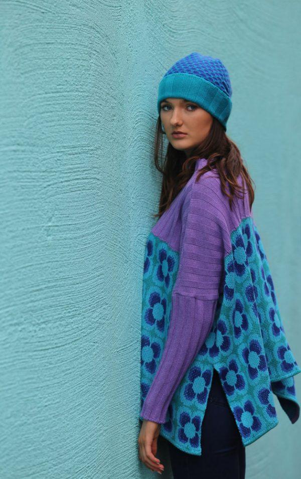 Ribbed Retro Daisy Jumper 3 Linda Wilson Irish Knitwear Designer Limerick