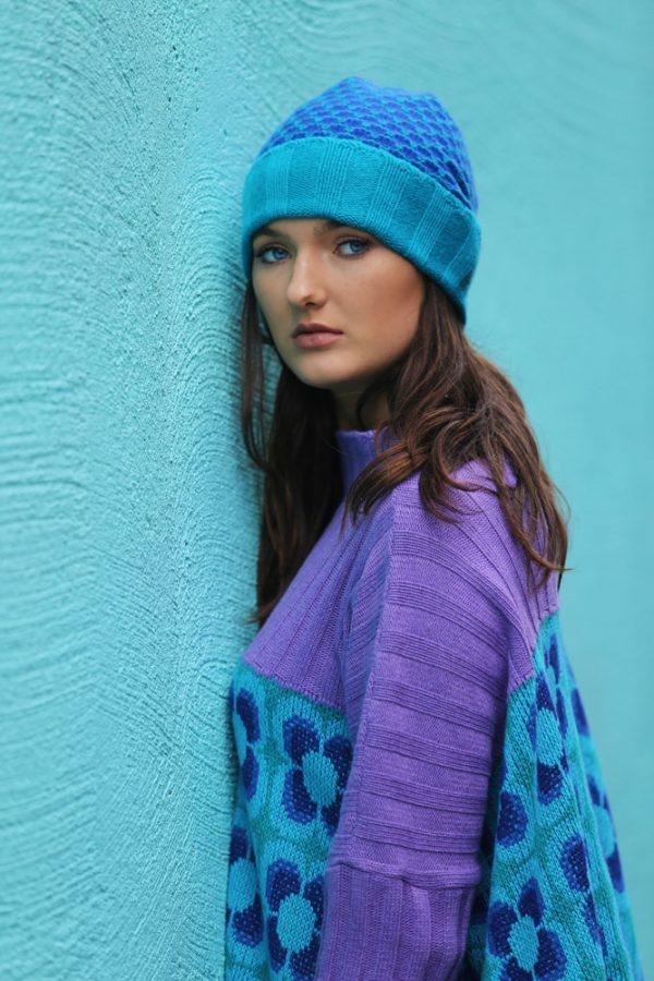 Ribbed Retro Daisy Jumper 4 Linda Wilson Irish Knitwear Designer Limerick