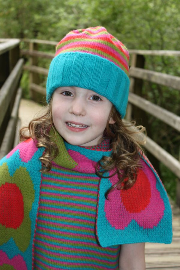 Ribbed Striped Hat HAT1-1 Linda Wilson Knitwear Irish Childrens Knitwear Designer Limerick