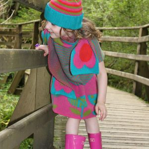 Ribbed Striped Hat HAT1-2 Linda Wilson Knitwear Irish Childrens Knitwear Designer Limerick