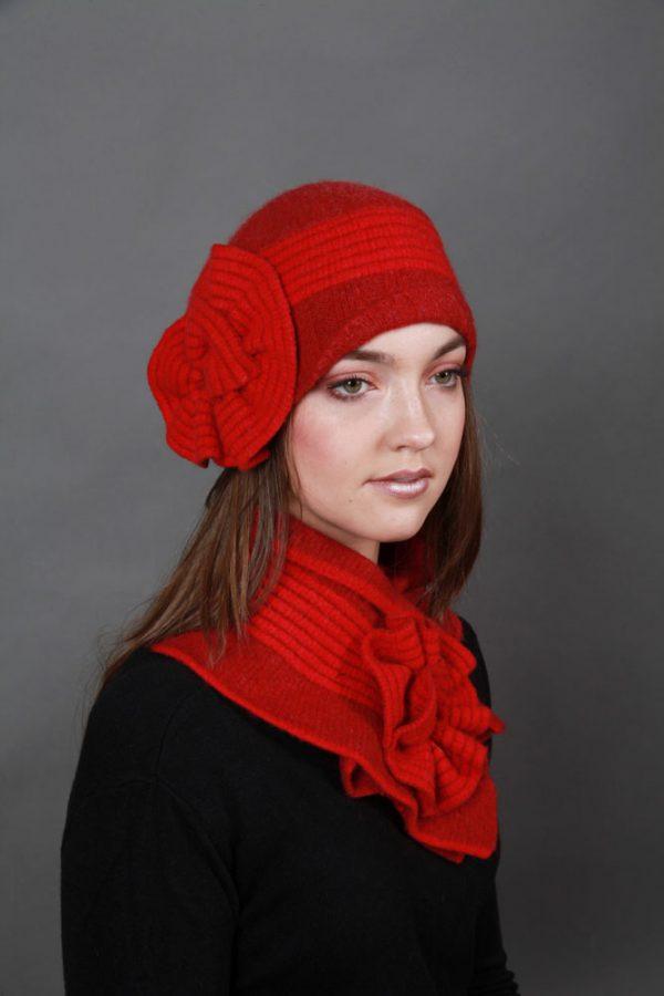 Swirl Hat HAT23-1 Linda Wilson Irish Knitwear Designer