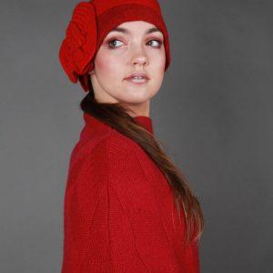 Swirl Hat HAT23-2 Linda Wilson Irish Knitwear Designer