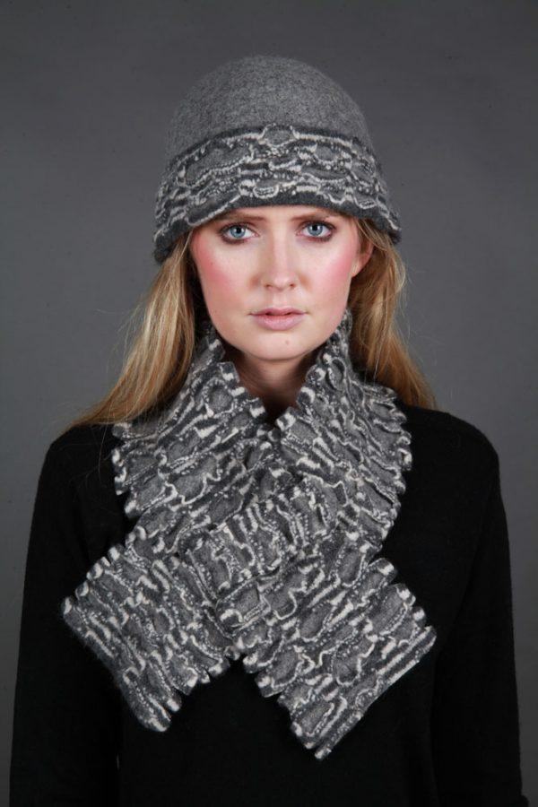 Textured Brimmed Hat TEXHAT-1 Linda Wilson Irish Knitwear Designer