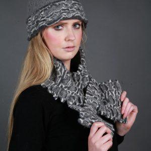 Textured Brimmed Hat TEXHAT-2 Linda Wilson Irish Knitwear Designer