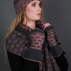 Textured Squares Hat HAT15-2 Linda Wilson Irish Knitwear Designer