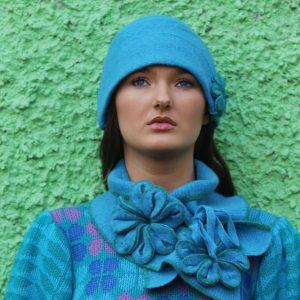 Tie Blossom Scarf 1 Linda Wilson Irish Knitwear Designer Limerick