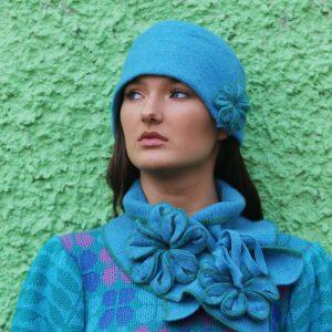 Tie Blossom Scarf 2 Linda Wilson Irish Knitwear Designer Limerick