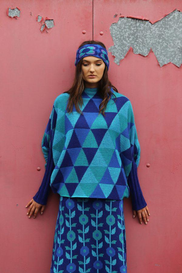 Triangular Jumper 1 Linda Wilson Irish Knitwear Designer Limerick