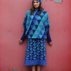 Triangular Jumper 2 Linda Wilson Irish Knitwear Designer Limerick
