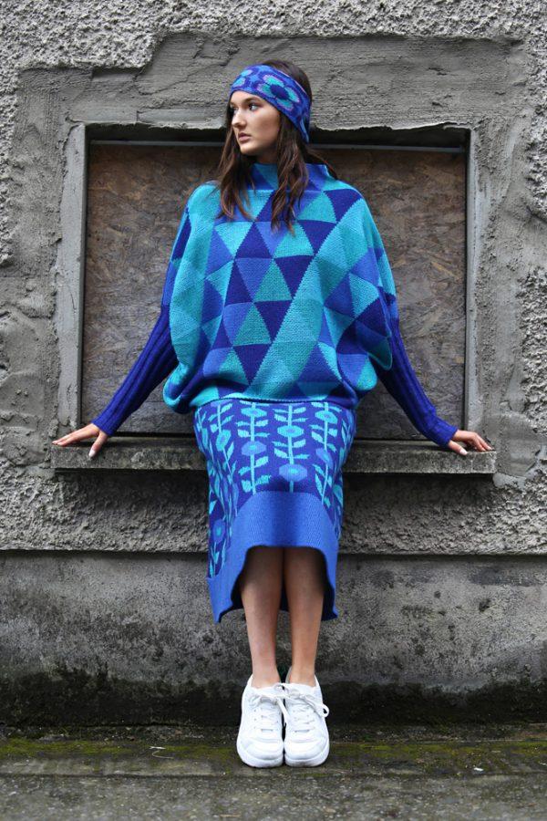 Triangular Jumper 3 Linda Wilson Irish Knitwear Designer Limerick