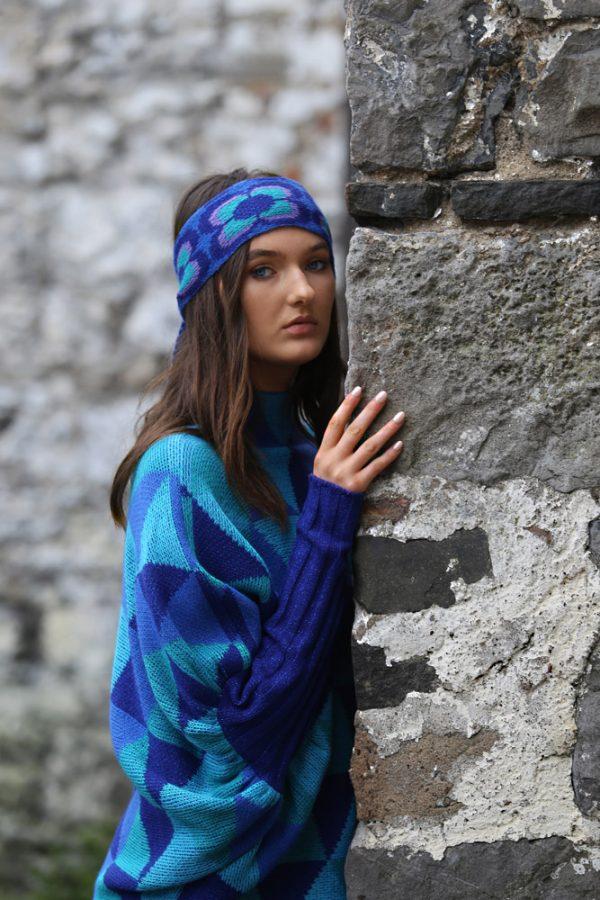 Triangular Jumper 5 Linda Wilson Irish Knitwear Designer Limerick