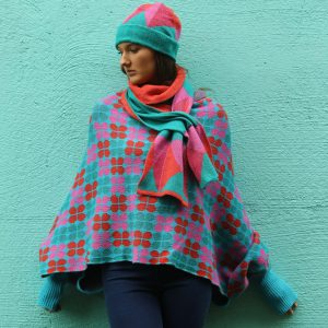 Triangular Pattern Pull Through Scarf Long 1 Linda Wilson Irish Knitwear Designer Limerick