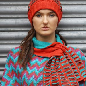 Upside Down Pocket Pull Through Scarf 1 Linda Wilson Irish Knitwear Designer Limerick