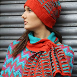 Upside Down Pocket Pull Through Scarf 2 Linda Wilson Irish Knitwear Designer Limerick
