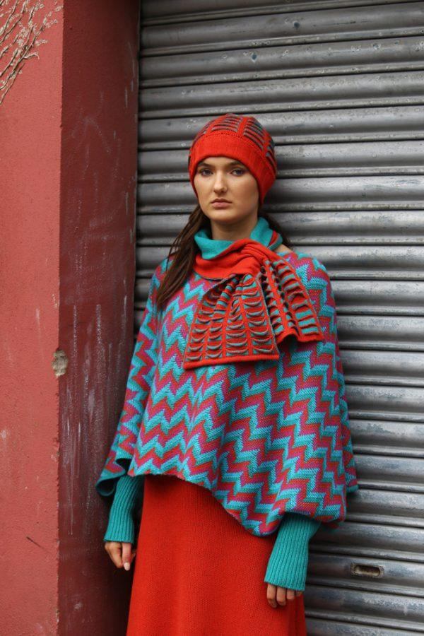Upside Down Pocket Pull Through Scarf 3 Linda Wilson Irish Knitwear Designer Limerick
