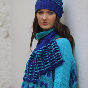 Upside Down Pocket Pull Through Scarf Long 2 Linda Wilson Irish Knitwear Designer Limerick