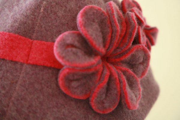 Vintage Blossom Hat HAT4-5 Linda Wilson Irish Knitwear Designer