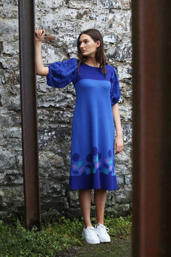 Vintage Tulip Dress 2 Linda Wilson Irish Knitwear Designer Limerick