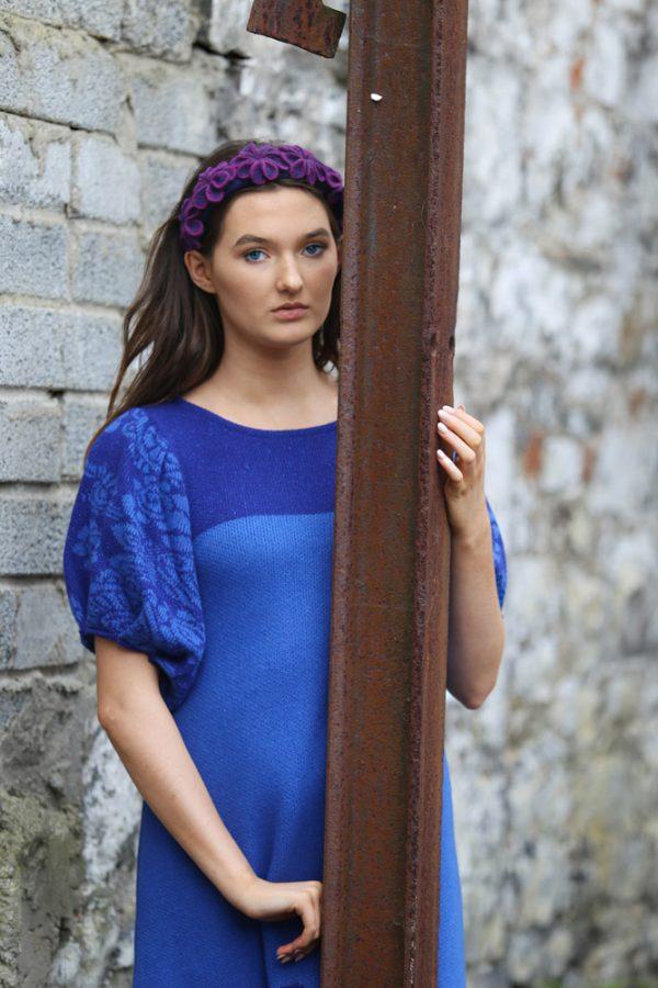 Vintage Tulip Dress 4 Linda Wilson Irish Knitwear Designer Limerick
