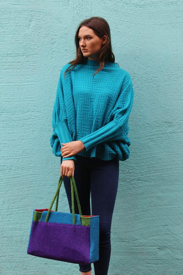 Waffle Jumper 1 Linda Wilson Irish Knitwear Designer Limerick