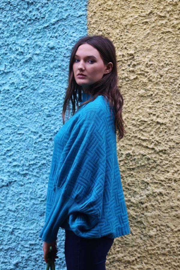Waffle Jumper 3 Linda Wilson Irish Knitwear Designer Limerick